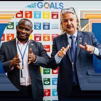 Ambrose Murangira and Colin Allen thumb