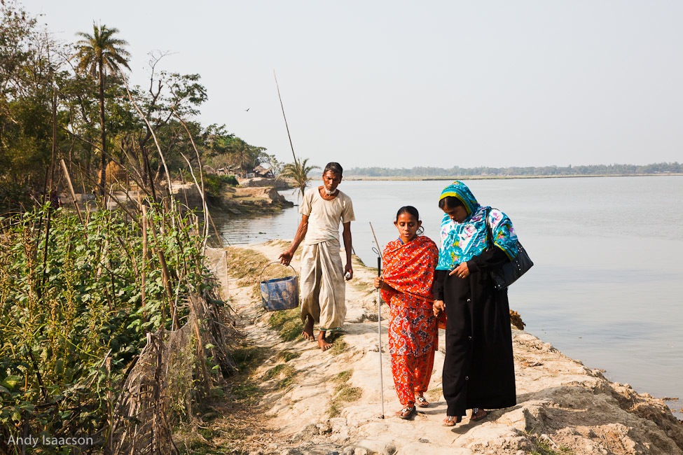 Village in the Bay of Bengal, Bangladesh